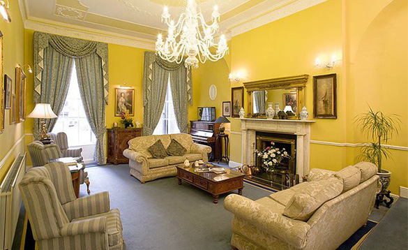 Elegant sitting room at Harrington Hall, Dublin/