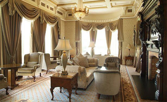 Elegant sitting room at Manor House Country Hotel, Enniskillen/