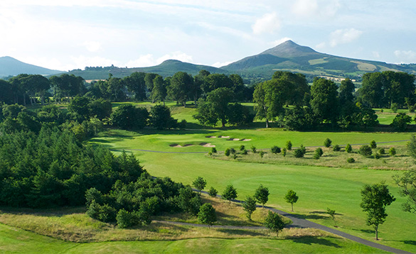 View across Powerscourt Golf Course /