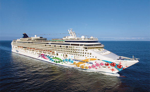 NCL cruise ship Norwegian Pearl at sea/
