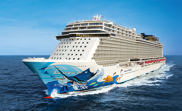 NCL cruise ship Escape at sea/
