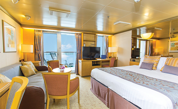 Mini suite on P&O Cruises ship Arcadia/