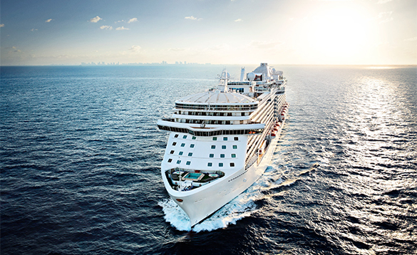 Royal Princess cruise ship at sea/