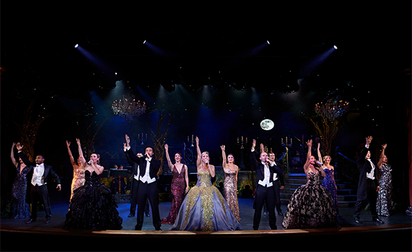 Entertainers on stage onboard a Princess cruises ship/