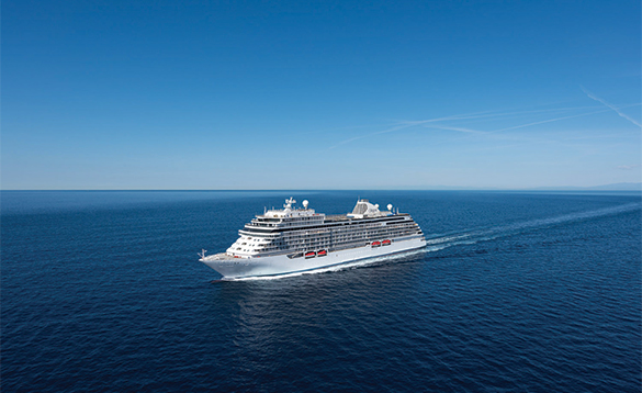 Regent Seven Seas Explorer ship at sea/