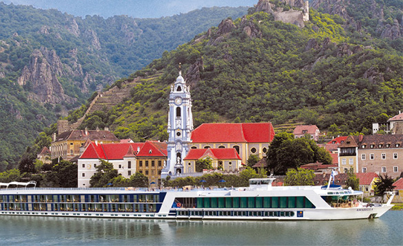 A river cruise with wonderful views/