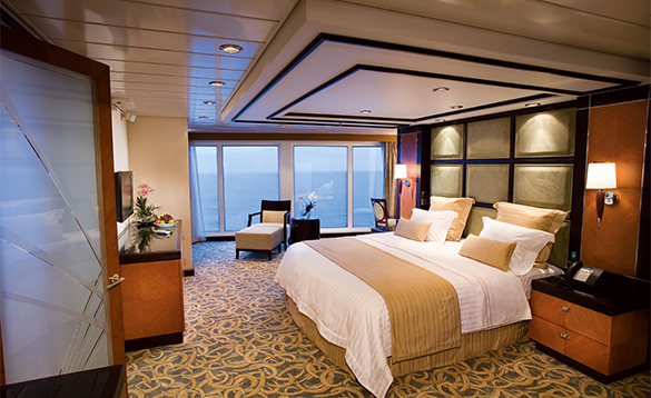 Royal Suite cabin onboard a Royal Caribbean cruise ship/