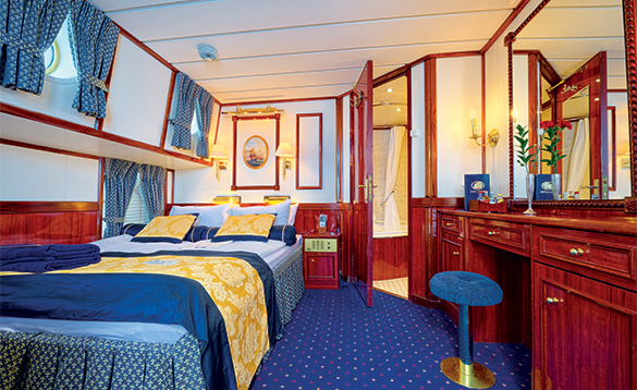 Cabin on a Star Clippers ship/