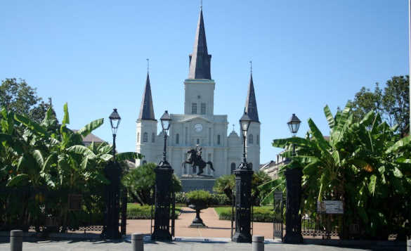 View of St Louis Cathedral in New Orleans/